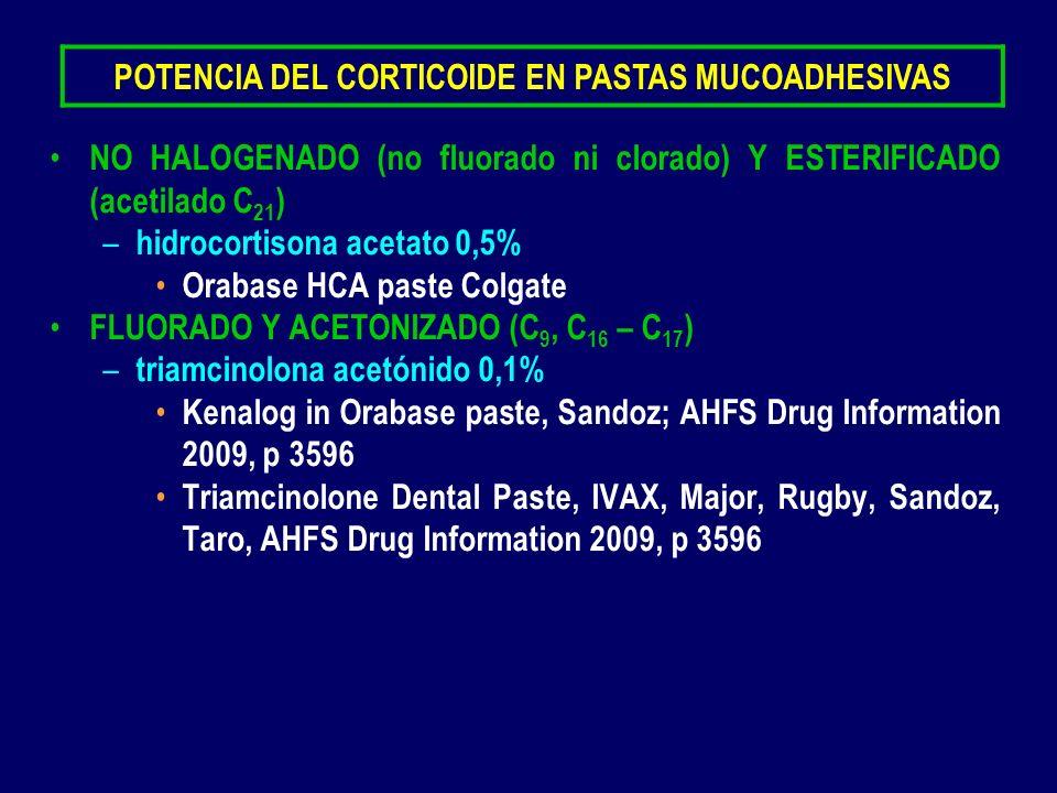POTENCIA DEL CORTICOIDE EN PASTAS MUCOADHESIVAS