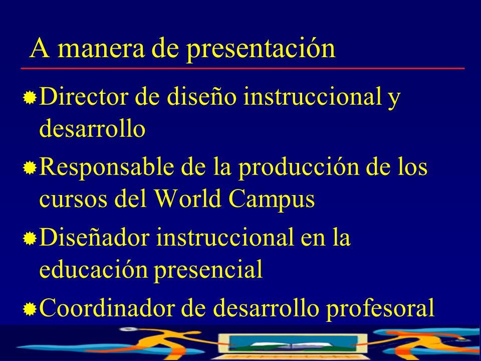 A manera de presentación