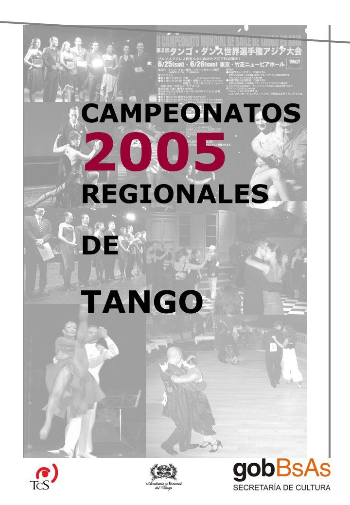 CAMPEONATOS 2005 REGIONALES DE TANGO