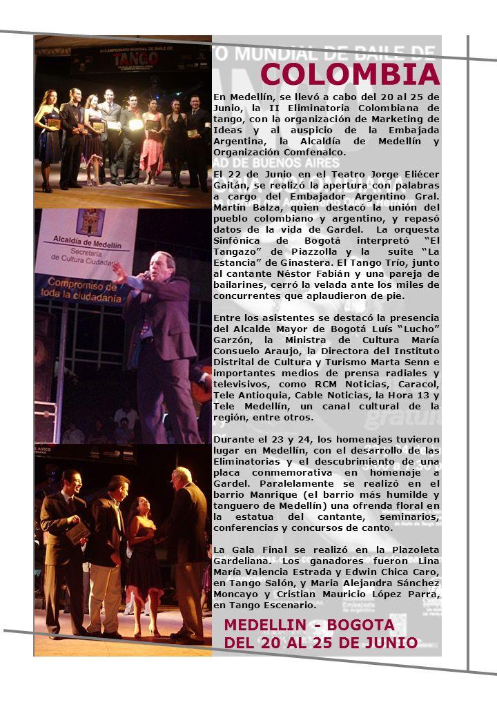 COLOMBIA MEDELLIN - BOGOTA DEL 20 AL 25 DE JUNIO