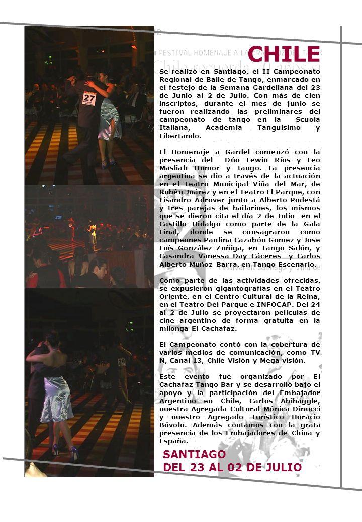 CHILE SANTIAGO DEL 23 AL 02 DE JULIO