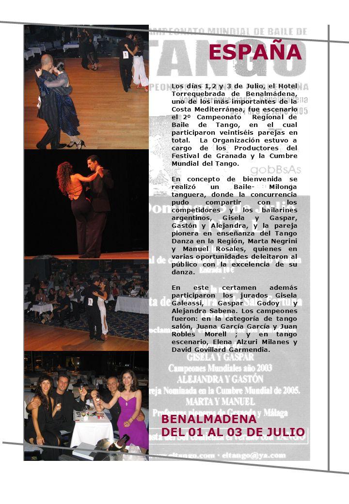 ESPAÑA BENALMADENA DEL 01 AL 03 DE JULIO
