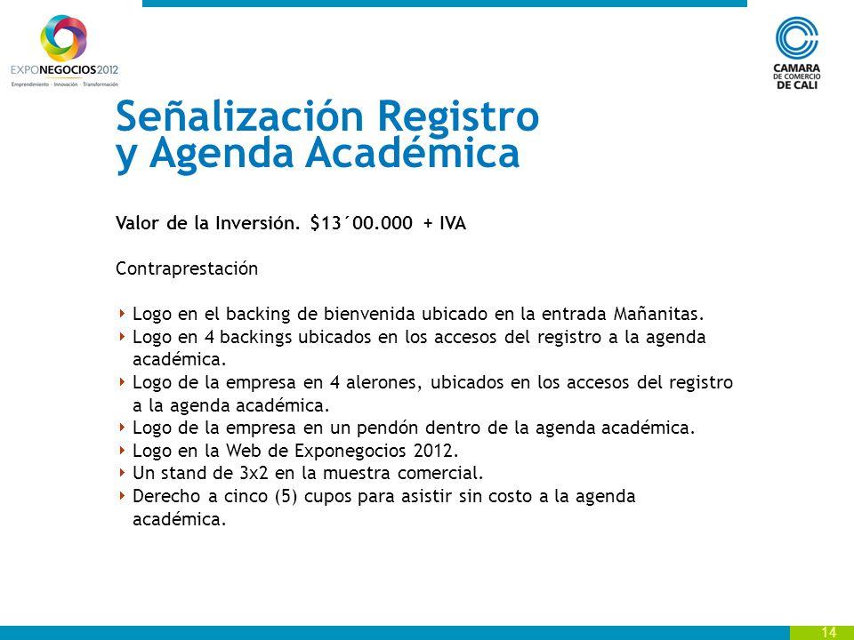 Señalización Registro y Agenda Académica