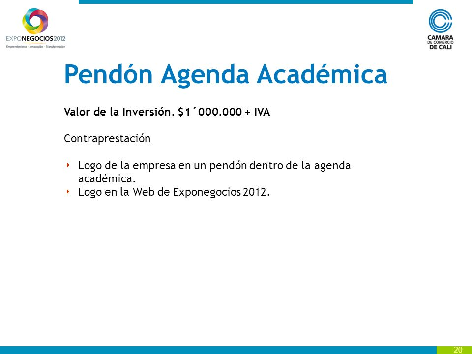 Pendón Agenda Académica