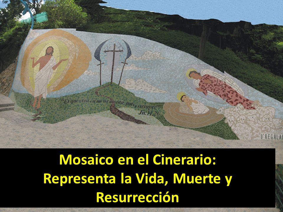 Mosaico en el Cinerario: Representa la Vida, Muerte y Resurrección