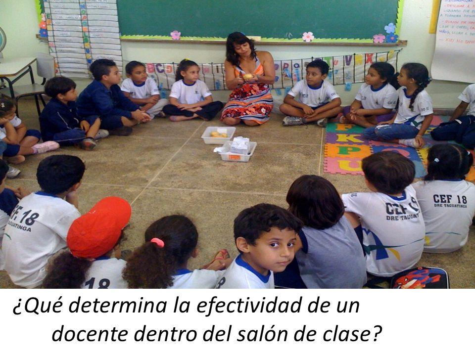 ¿Qué determina la efectividad de un docente dentro del salón de clase