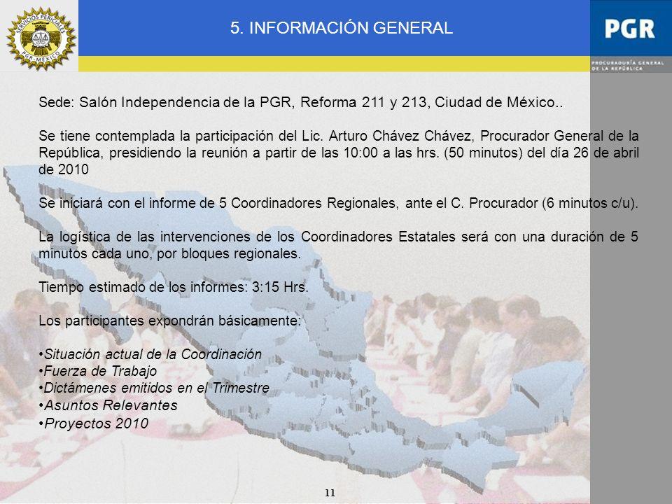 5. INFORMACIÓN GENERAL Asuntos Relevantes Proyectos 2010