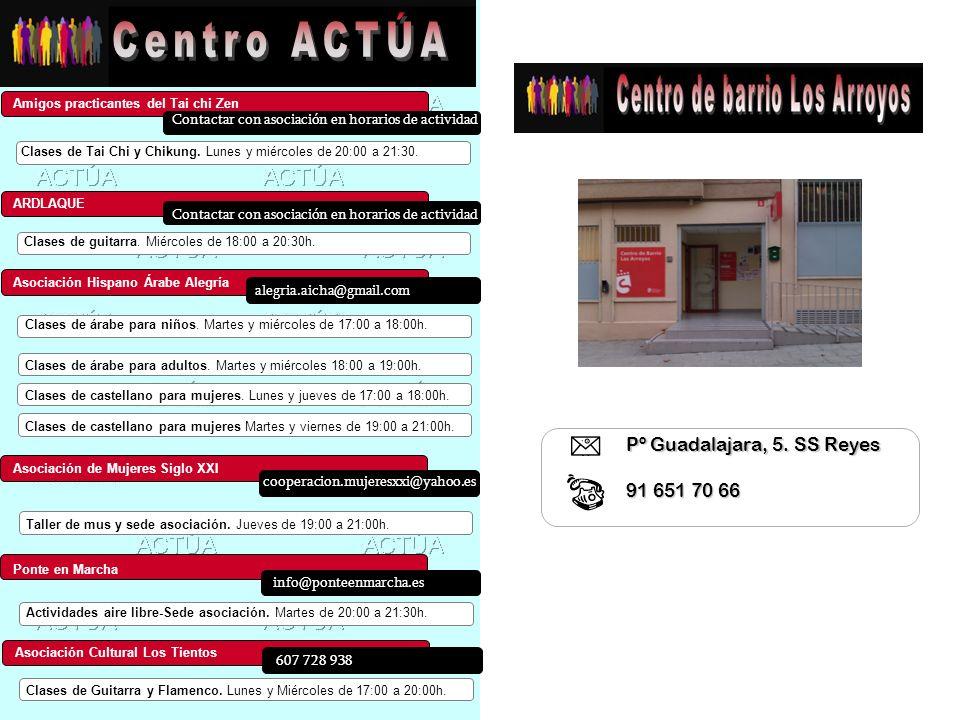 Centro ACTÚA Pº Guadalajara, 5. SS Reyes 91 651 70 66