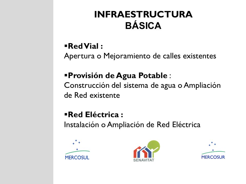 Infraestructura básica Red Vial :