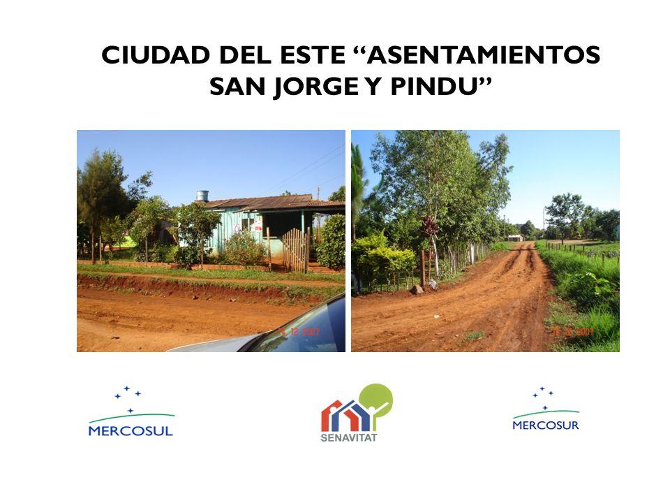 CIUDAD DEL ESTE ASENTAMIENTOS SAN JORGE Y PINDU