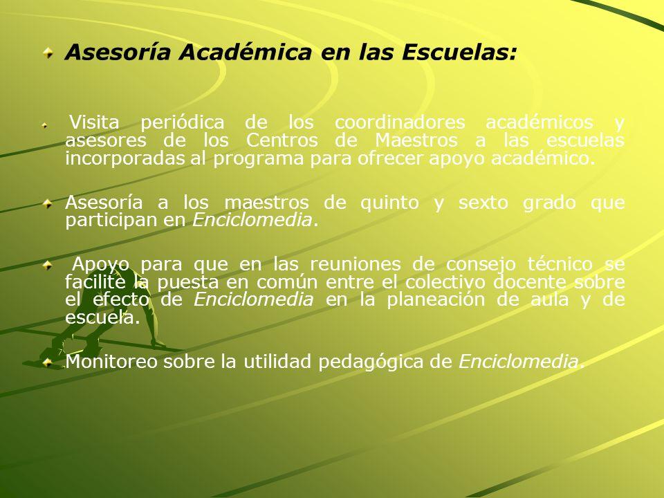 Asesoría Académica en las Escuelas: