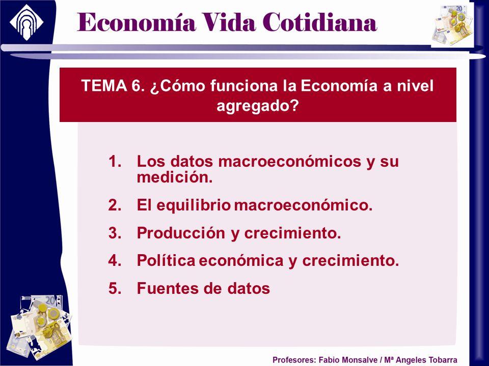 TEMA 6. ¿Cómo funciona la Economía a nivel agregado
