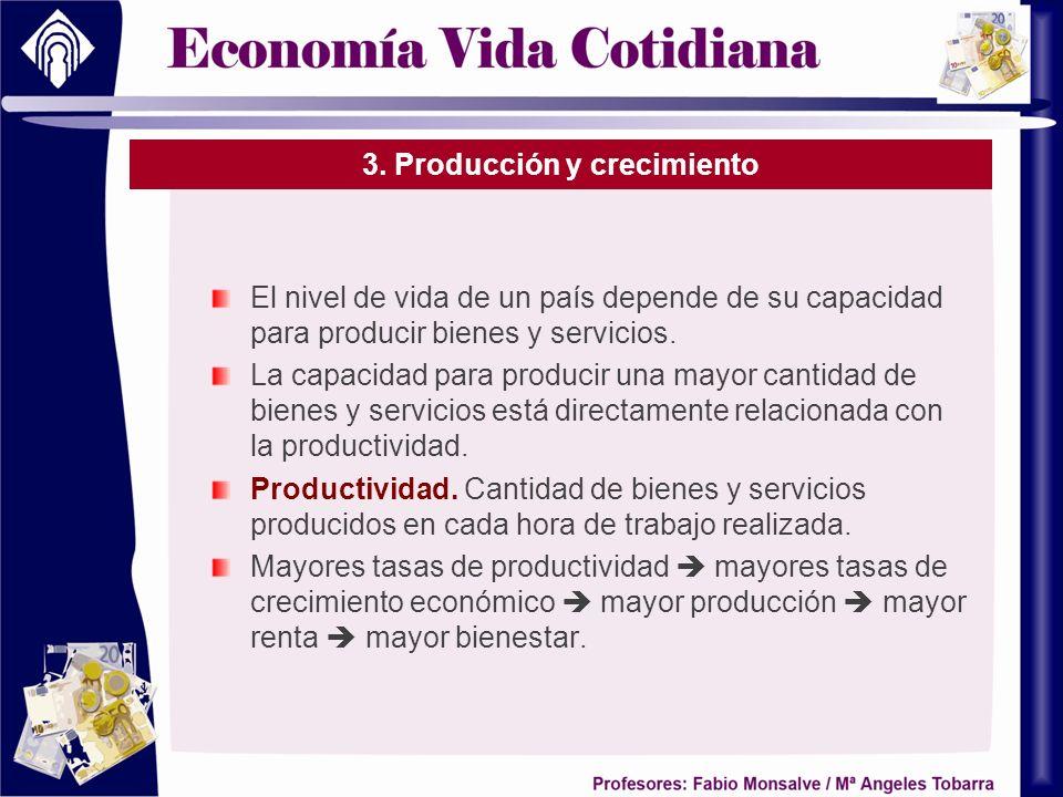 3. Producción y crecimiento