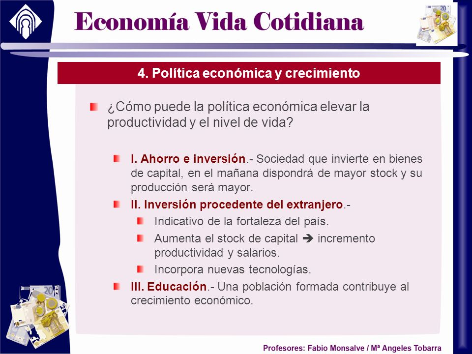 4. Política económica y crecimiento