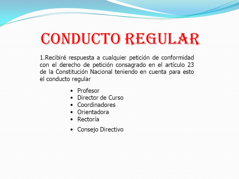 Conducto Regular