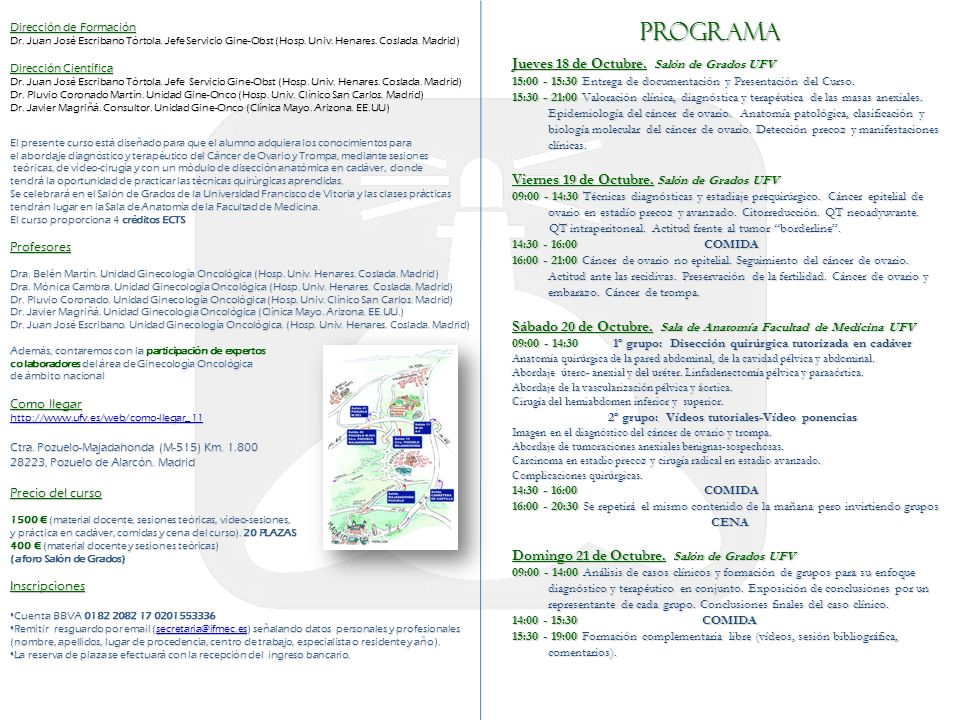 PROGRAMA Jueves 18 de Octubre. Salón de Grados UFV