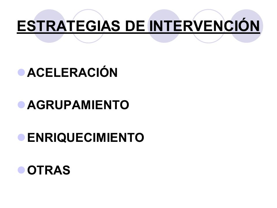ESTRATEGIAS DE INTERVENCIÓN