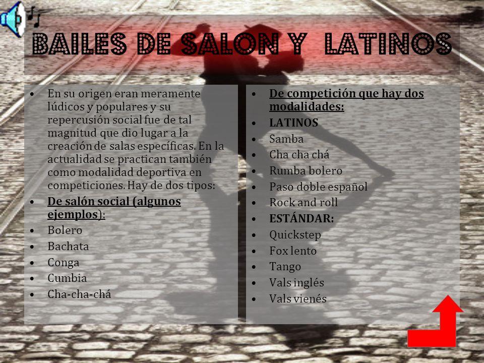 BAILES DE SALON Y LATINOS