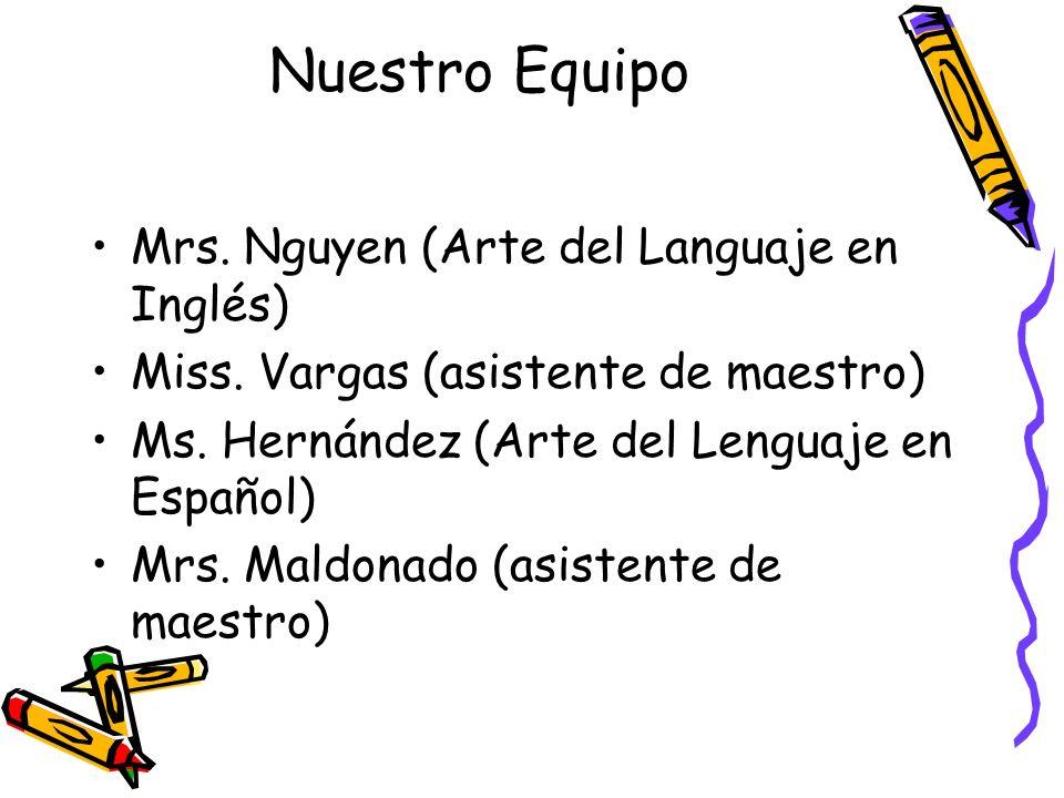 Nuestro Equipo Mrs. Nguyen (Arte del Languaje en Inglés)