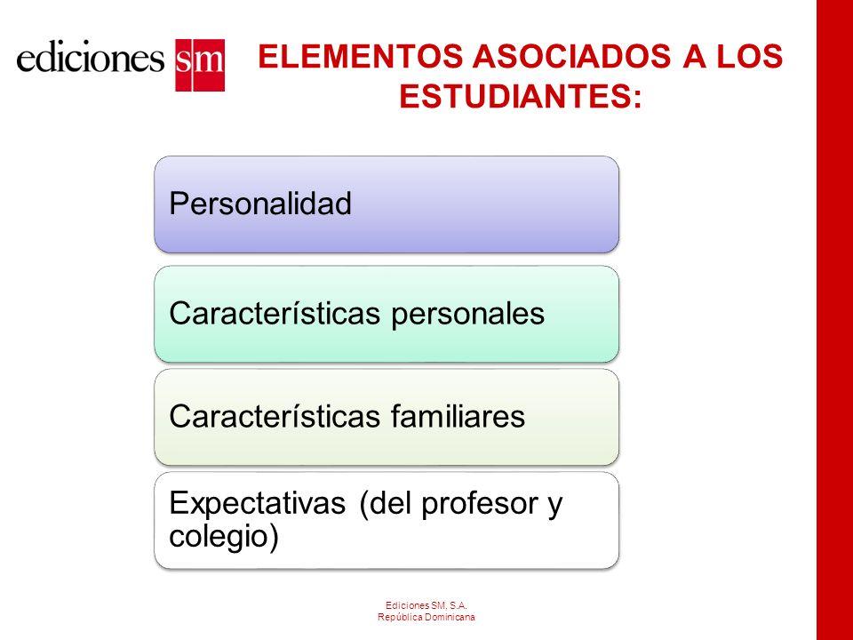 ELEMENTOS ASOCIADOS A LOS ESTUDIANTES: