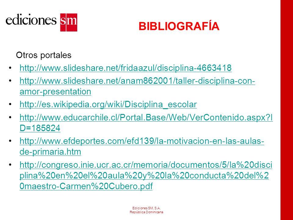BIBLIOGRAFÍA Otros portales