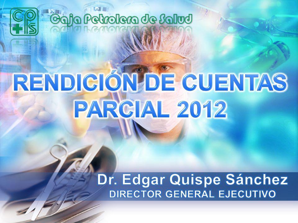 Dr. Edgar Quispe Sánchez DIRECTOR GENERAL EJECUTIVO