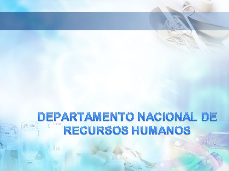 DEPARTAMENTO NACIONAL DE RECURSOS HUMANOS