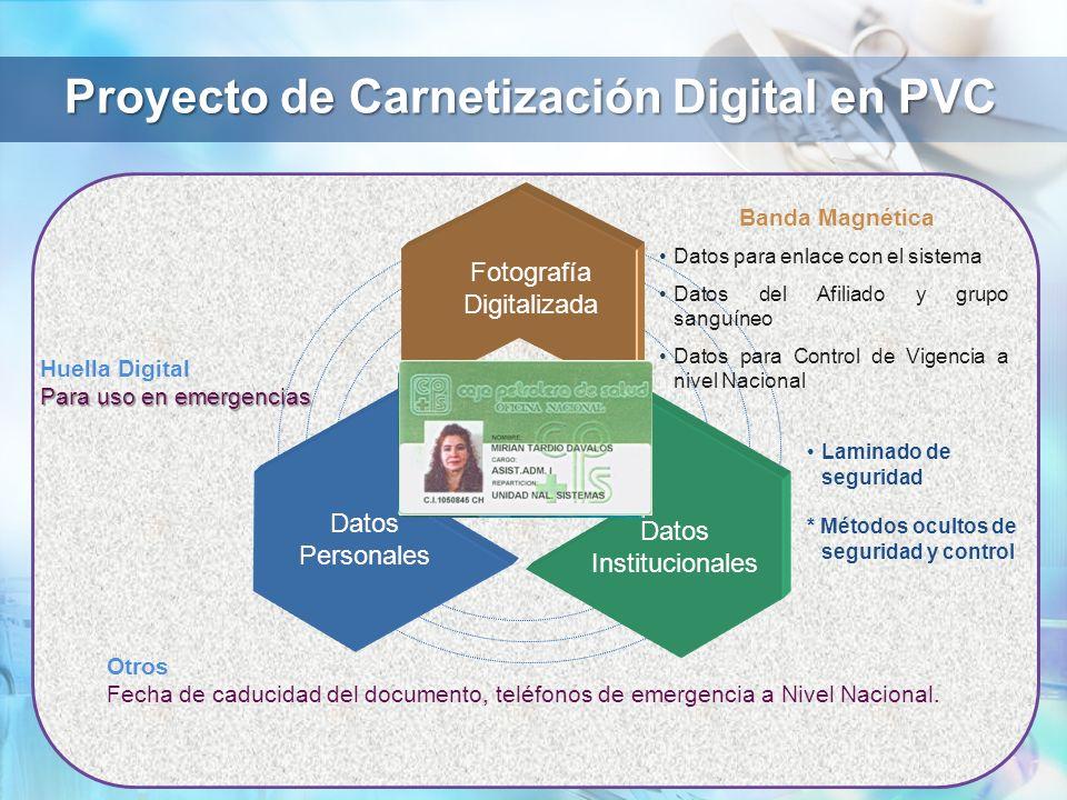 Proyecto de Carnetización Digital en PVC