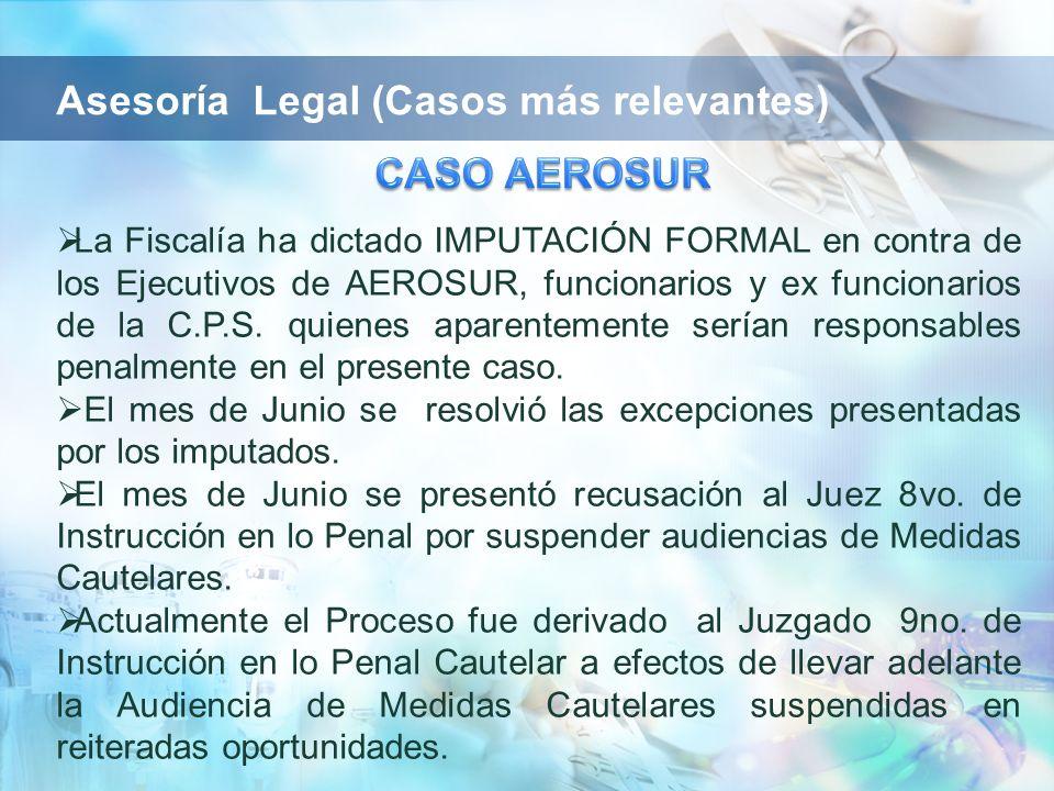 Asesoría Legal (Casos más relevantes)