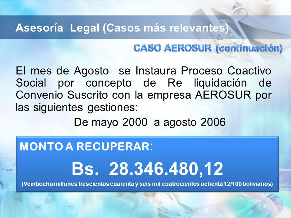 CASO AEROSUR (continuación)