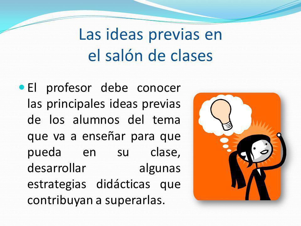 Las ideas previas en el salón de clases