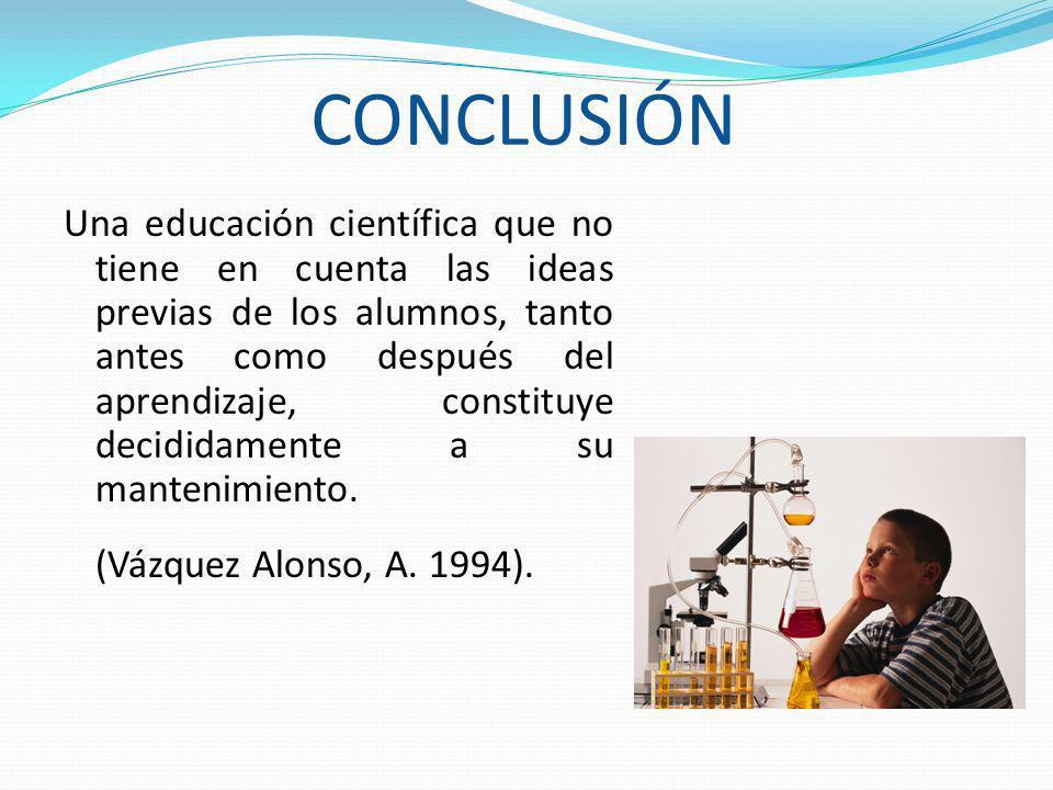 CONCLUSIÓN (Vázquez Alonso, A. 1994).