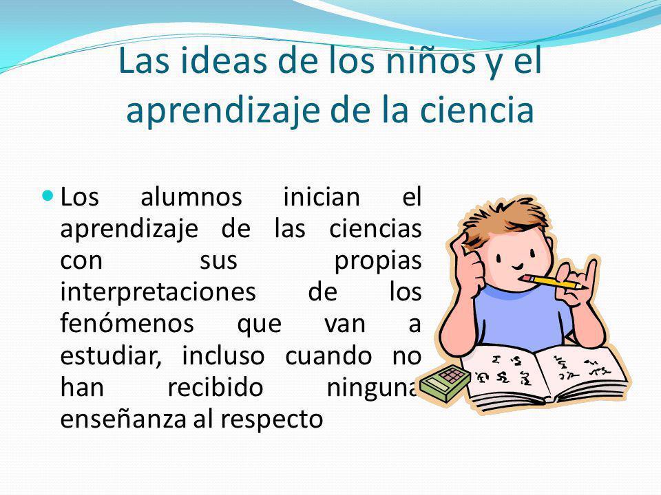 Las ideas de los niños y el aprendizaje de la ciencia