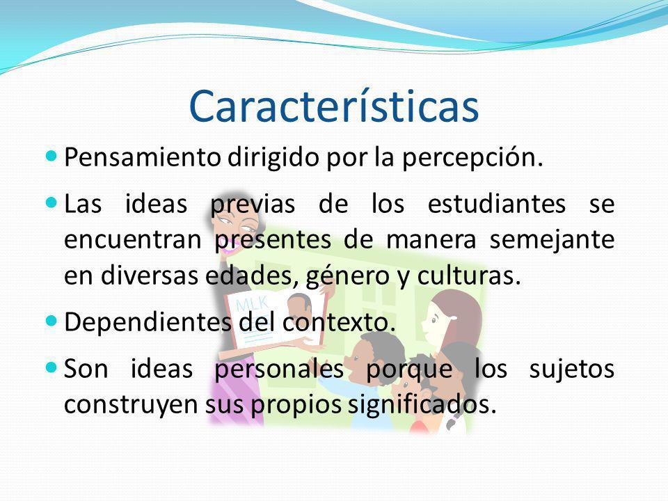 Características Pensamiento dirigido por la percepción.