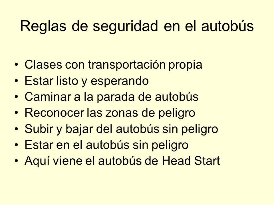 Reglas de seguridad en el autobús