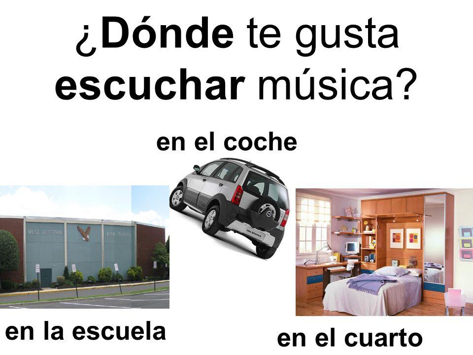 ¿Dónde te gusta escuchar música