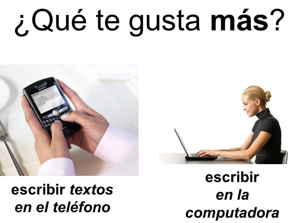 escribir textos en el teléfono