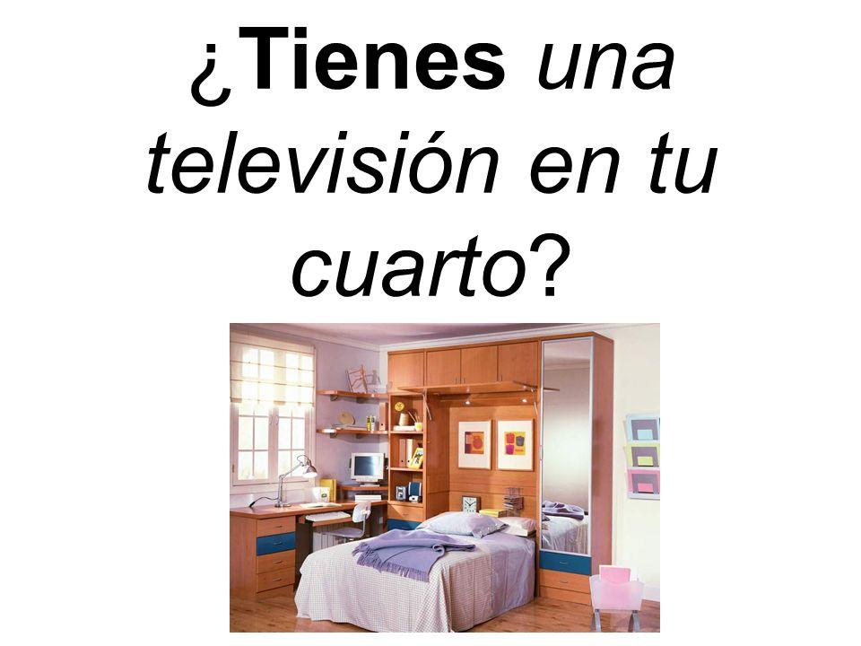 ¿Tienes una televisión en tu cuarto