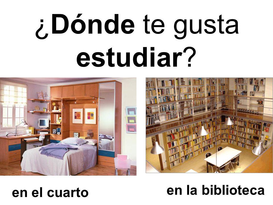 ¿Dónde te gusta estudiar