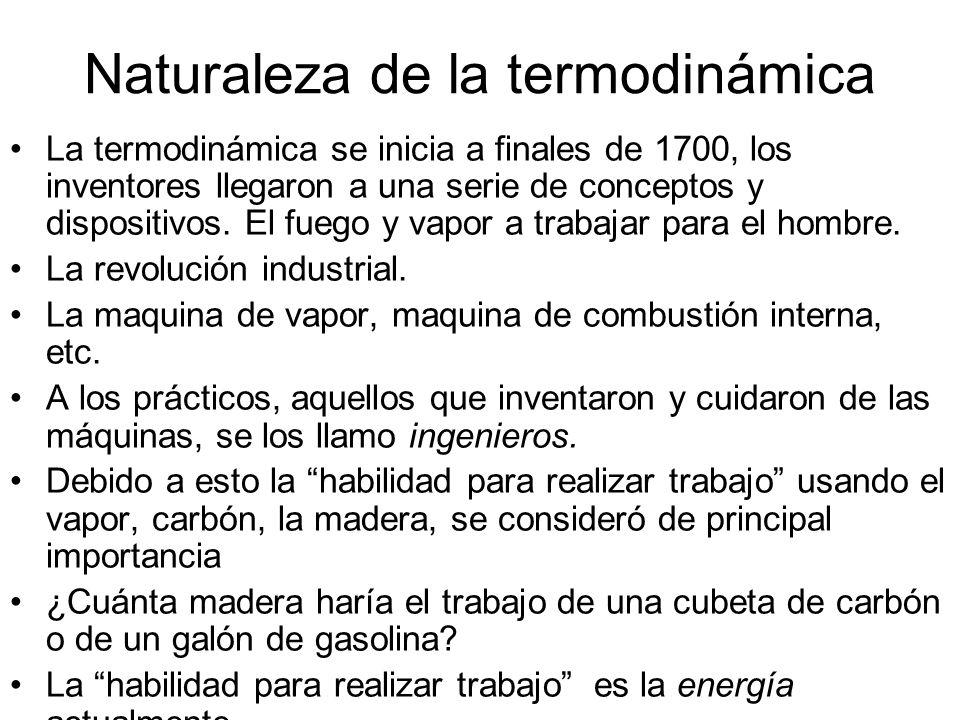 Naturaleza de la termodinámica