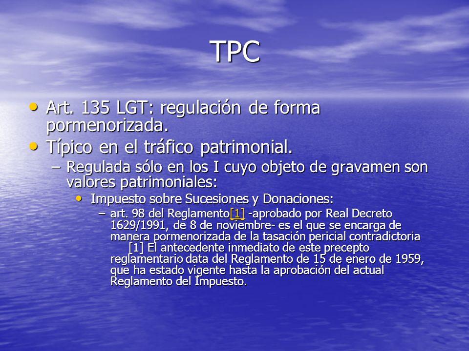 TPC Art. 135 LGT: regulación de forma pormenorizada.
