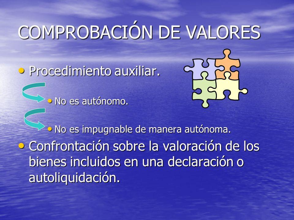 COMPROBACIÓN DE VALORES