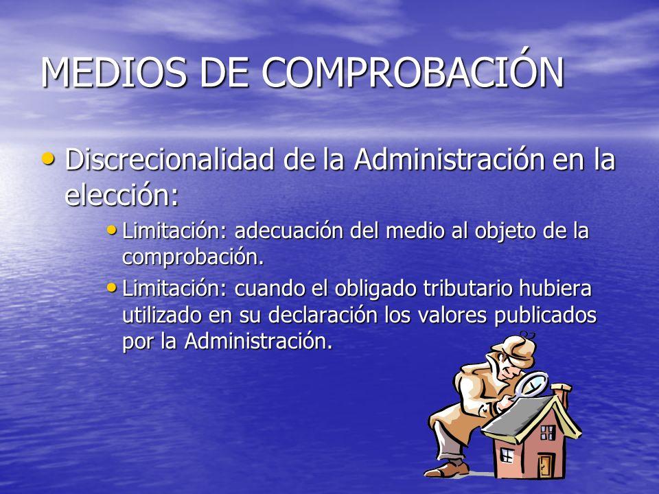 MEDIOS DE COMPROBACIÓN