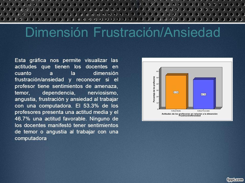 Dimensión Frustración/Ansiedad