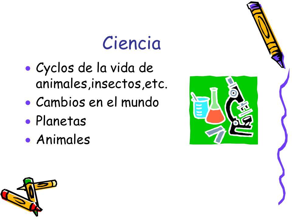 Ciencia Cyclos de la vida de animales,insectos,etc.