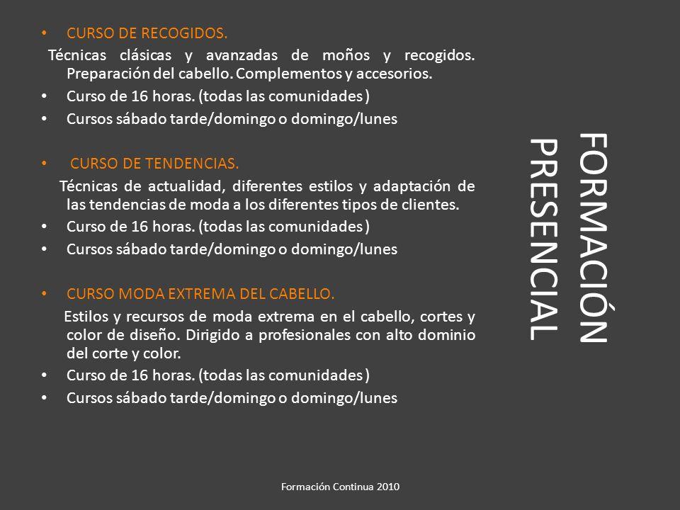 FORMACIÓN PRESENCIAL CURSO DE RECOGIDOS.