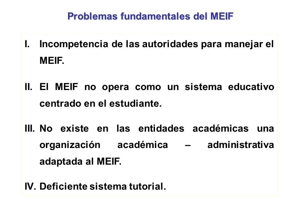 Problemas fundamentales del MEIF