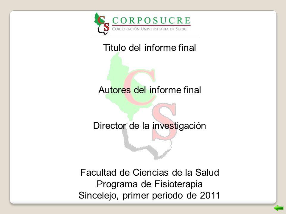 Titulo del informe final