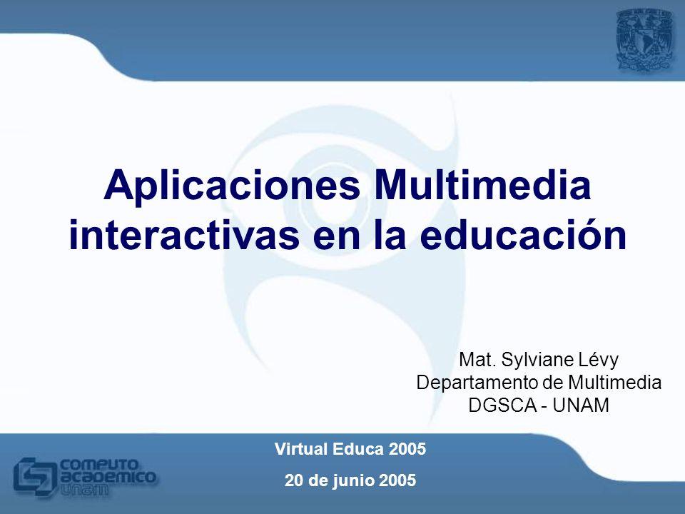Aplicaciones Multimedia interactivas en la educación