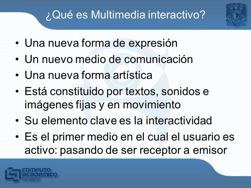 ¿Qué es Multimedia interactivo